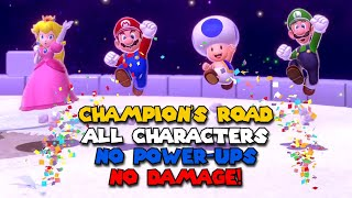 Champion's Road cleared with all 5 characters [No Power-Ups, No Damage] - 3D World + Bowser's Fury