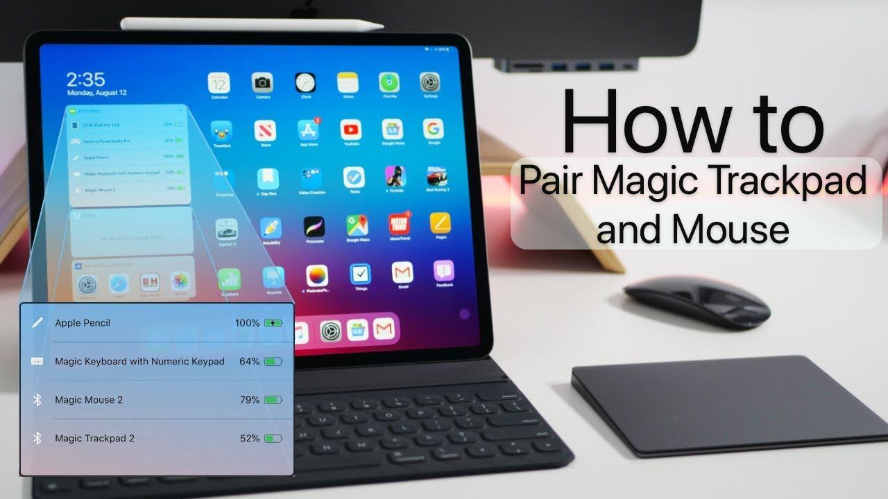 iPad OS and iOS 13 - How to Use Magic TrackPad, Magic Mouse and Magic  Keyboard