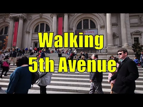 ⁴ᴷ Walking Tour of Upper East Side & East Harlem, Manhattan, NYC - 5th Avenue