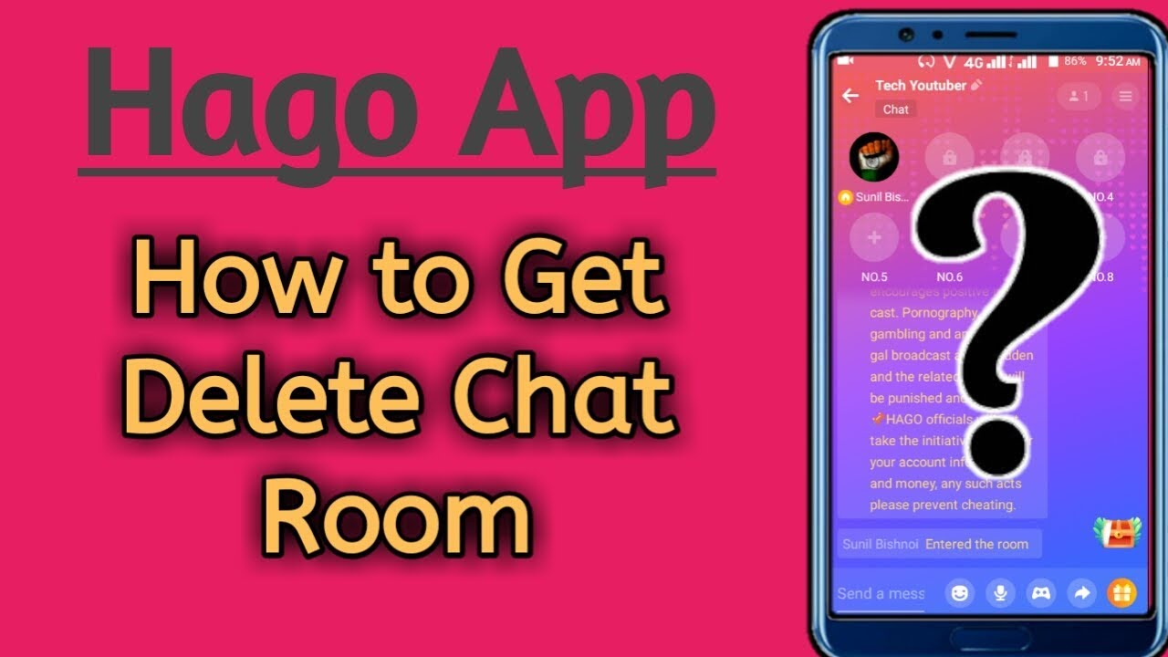 How to Get Delete Chat Room In Hago App || Step by Step