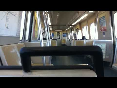 MARTA Gold Line Train From East Point to Lakewood/Ft.Mcpherson Station