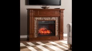 FI9321: Highgate Faux Stone Infrared Electric Media Fireplace Assembly Video