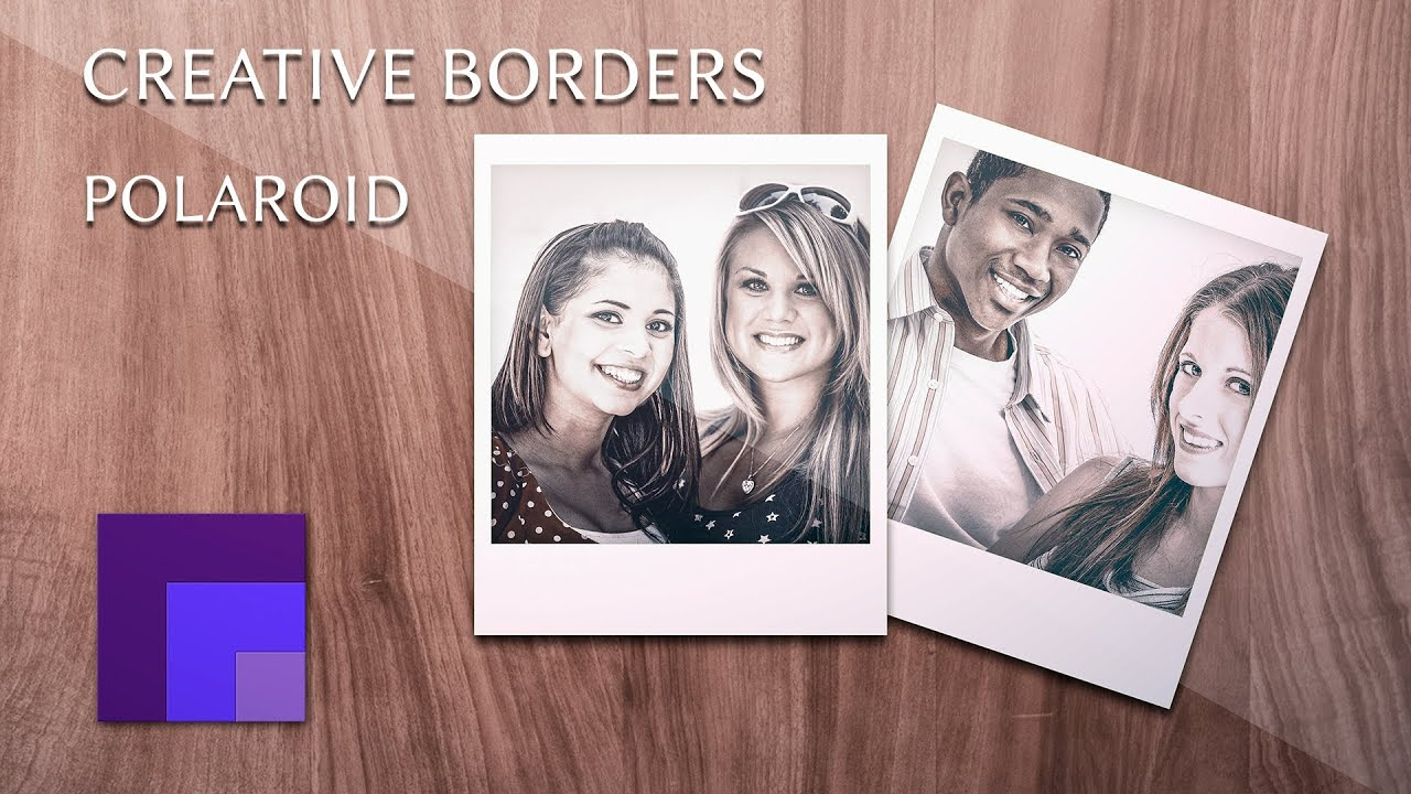 Create a polaroid photo gallery template using smart objects create a polaroid photo gallery template using smart objects creative borders in photoshop youtube pronofoot35fo Choice Image
