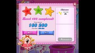 Candy Crush Saga Level 492 ★★★ NO BOOSTER