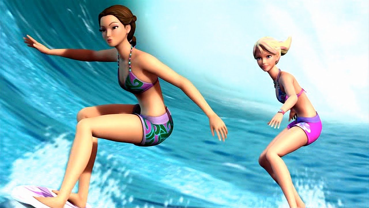 Download Barbie in a Mermaid Tale 2 - Merliah vs Kylie in the surfing competition