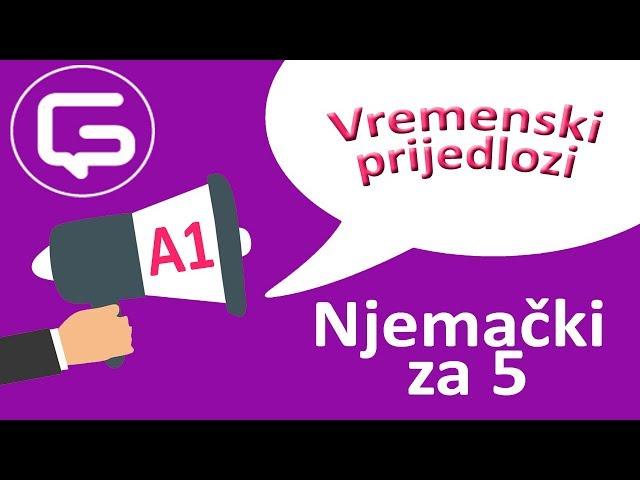 Njemački za 5: Vremenski prijedlozi (epizoda 11)