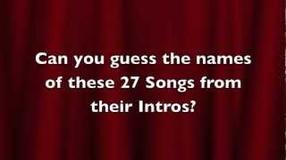 Christmas Songs - Introductions Quiz