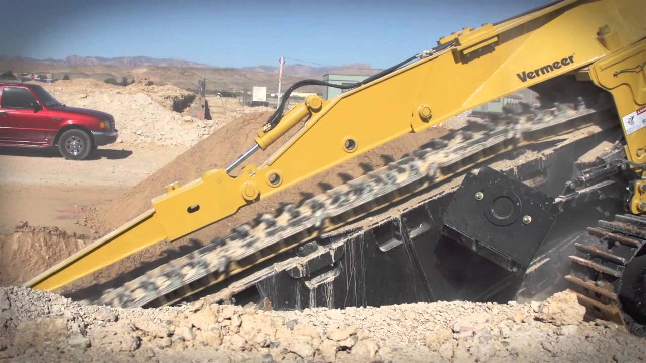 Trenching Machines Working : T commander pipeline trencher vermeer underground