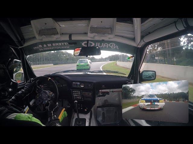 Belcar Youngtimer Cup Zolder onboard BMW M3 E30 vs Peugeot 205 GTI