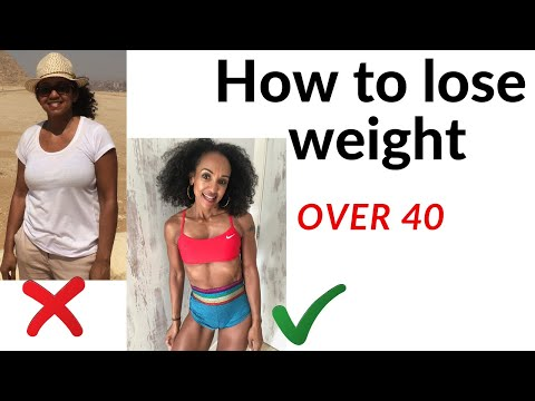 How to lose weight over 40 female