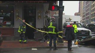 Boston City Truck Hits Person, Restaurant In Chinatown