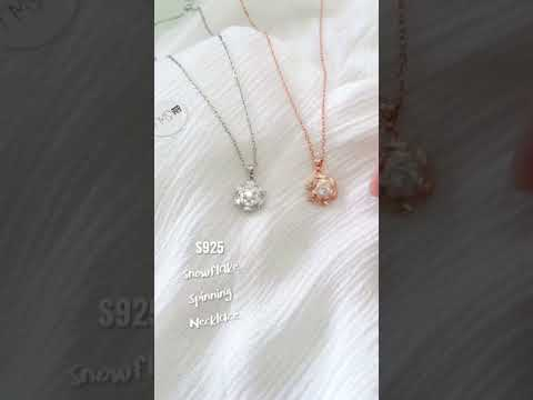 snowflake spinning necklace video 3