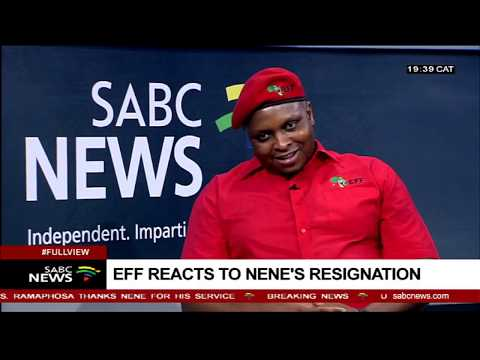 EFF reacts to the Nene, Mboweni shuffle: Floyd Shivambu