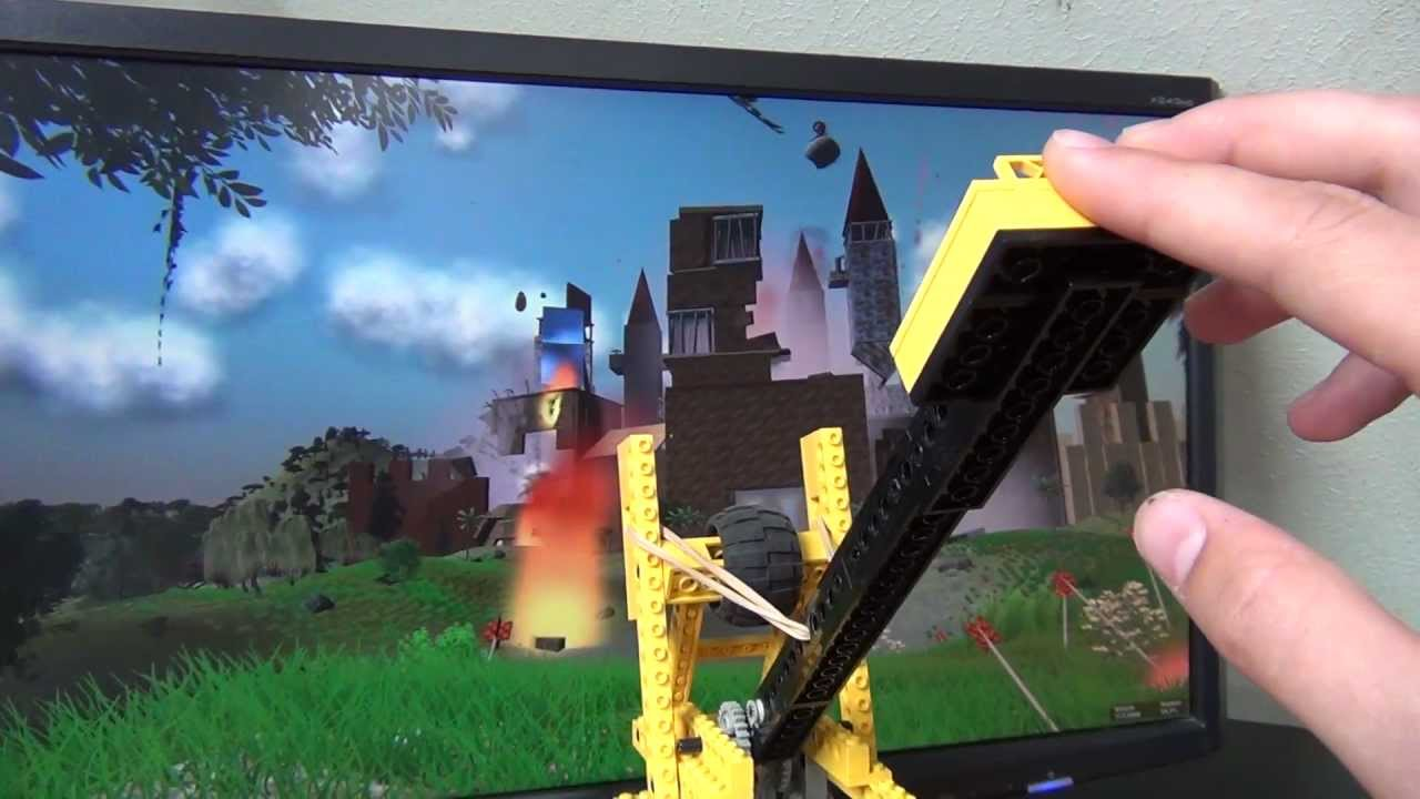 Lego Catapult Controlling Video Game Hd Youtube
