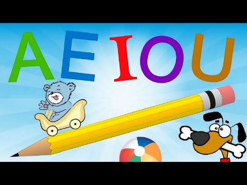 Las vocales A E I O U para niños con rimas - Aprende a escribir