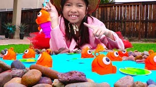 ¡ Aventuras de Camping y Pescando con Wendy! Pretend Play Fun Camping Adventures