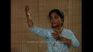 Indian classical dancer Saswati Sen performs Kathak