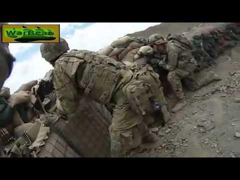 U.S Soldiers receive heavy effective fire *Helmet Cam*