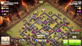 Clash of Clans - GoLaLoon vs. TH9 (Clan War Cleanup)
