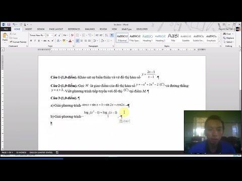 Sửa lỗi mathtype bị lệch dòng