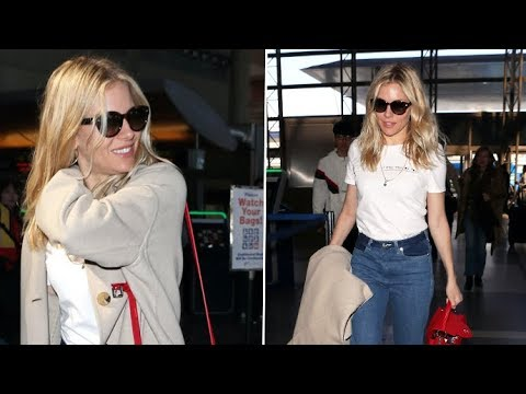 Sienna Miller Has A Funny Response When Complemented On Her Impeccable Airport Fashion