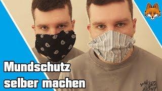 Mundschutz selber machen ohne Nähen (Behelfsmaske) - 2 einfache Varianten