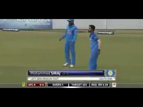 Best bowling by Mohammed siraj