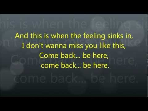 Taylor Swift - Come Back ... Be Here - Lyrics