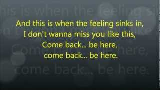 [3.34 MB] Taylor Swift - Come Back ... Be Here - Lyrics