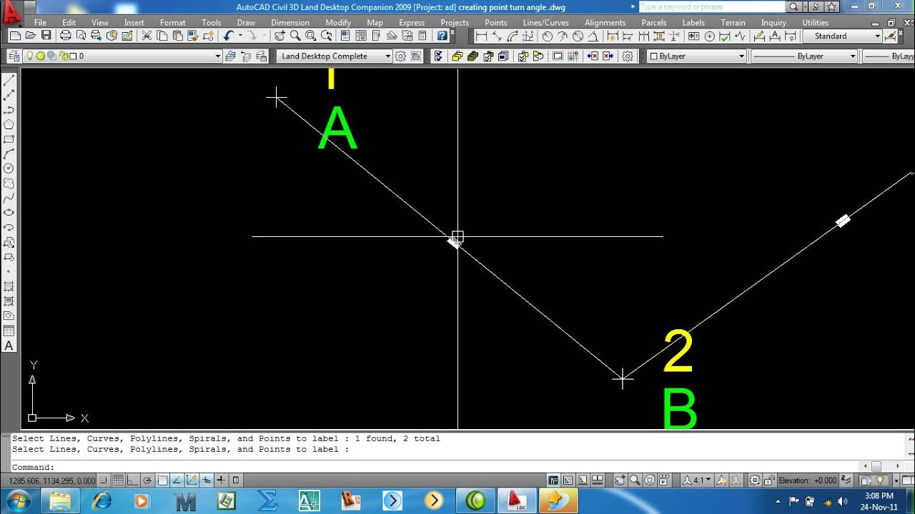 how to create point in autocad land 2009 youtube rh youtube com