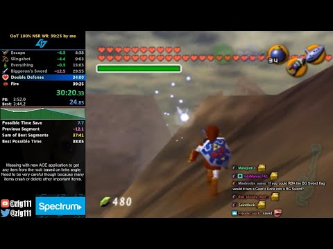 Ocarina Of Time 100% No Source Requirement Speedrun In 38:23 (with Arbitrary Code Execution)