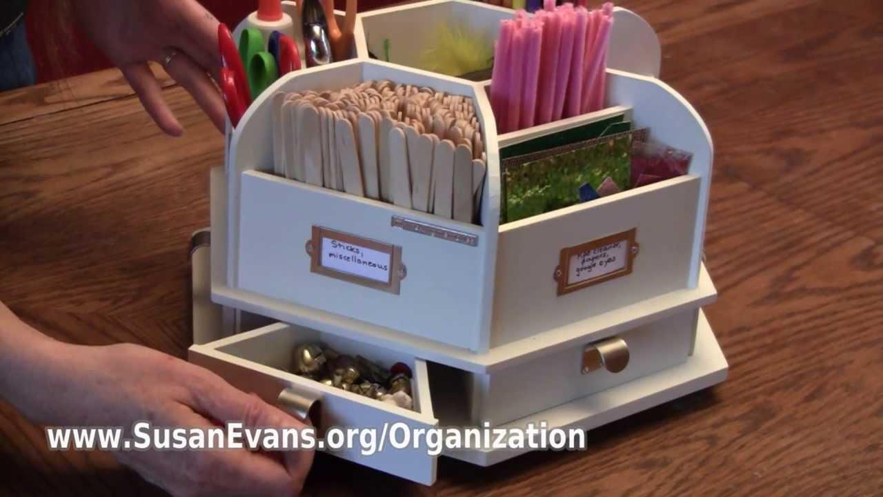 organizing art supplies youtube. Black Bedroom Furniture Sets. Home Design Ideas