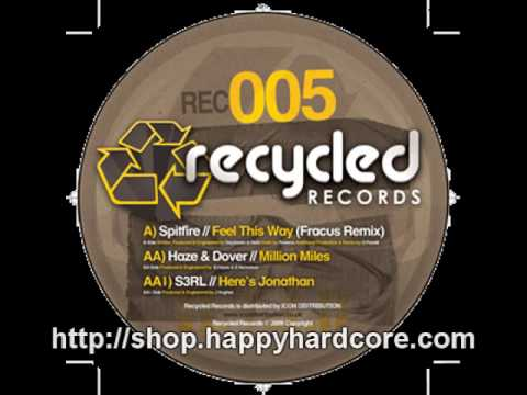 Haze & Dover - Million Miles, Recycled Records - RECYCLED005