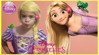 Disney Princess Rapunzel Costume and kids Makeup