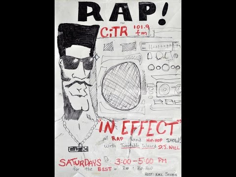 """In Effect"" RAP RADIO - CiTR 101.9 Vancouver. August 17, 1989."