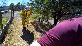 Scary Clown Attacks and Destroys iPad! Scary Clown Chase