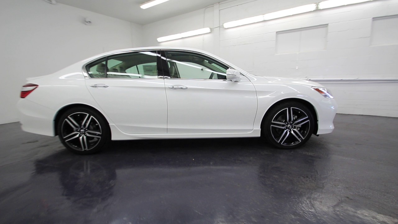 2017 Honda Accord Touring White Orchid Pearl Ha005951 Seattle