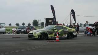 AMS Materialmord Nissan GT-R takeoff crash at RACE 1000 Magdeburg (22.07.17)
