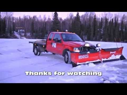 boss snow plows tin bismuth phase diagram plowing on lake with v plow - youtube