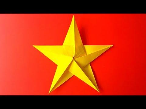 Cómo hacer una Estrella de Papel de 5 Puntas - Origami Paper Star