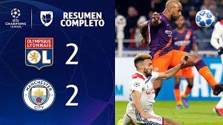 Lyon 2-2 Manchester City - GOLES Y RESUMEN - Grupo F - UEFA Champions League