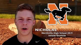 Nicholas Prystash Baseball Skills Video 2019