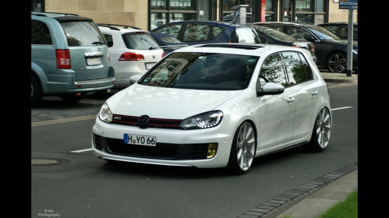 tuned low golf 6 gti loud exhaust sound youtube. Black Bedroom Furniture Sets. Home Design Ideas