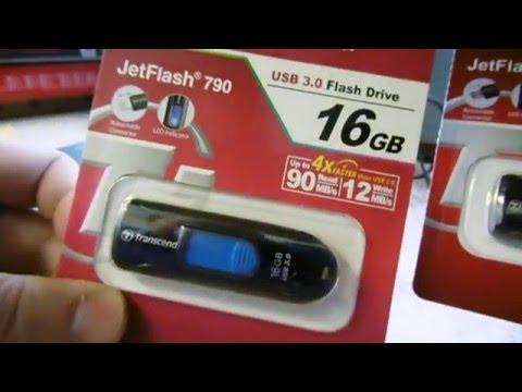 #Флешка с Aliexpress Transcend 16 Gb Jet Flash 790