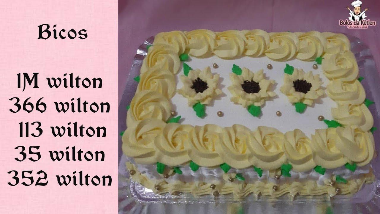 Bolo Girassol Chantilly Retangular Feminino Amarelo E Branco Bico 366 Wilton
