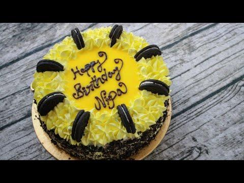 Birthday Cake Recipe Without Oven | Lemon Cake | Lemon Birthday Cake  Recipe