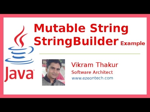 10 - Mutable String Using StringBuilder and StringBuffer - Java ...