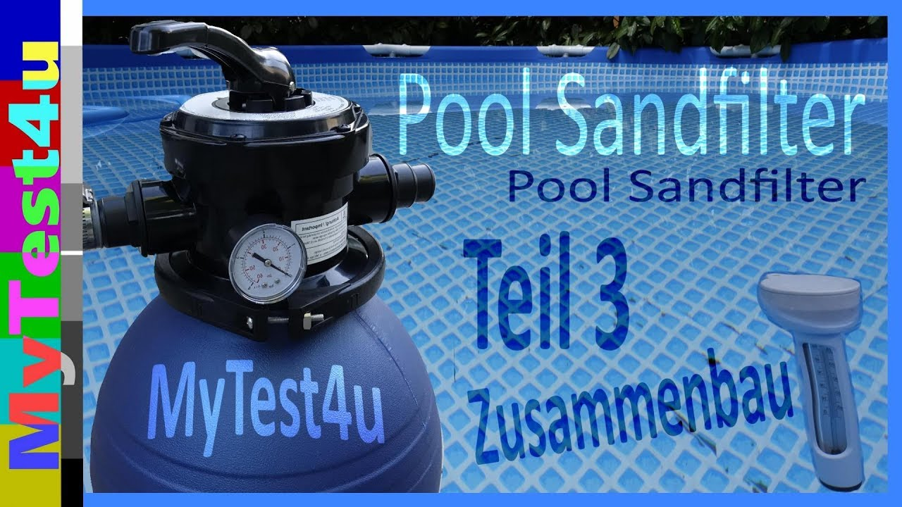 Pool Sandfilteranlage Befüllen Pool Sand Filter System Part 3 Tip Spf 180