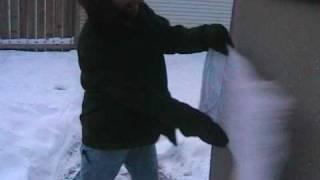 Minnesota Cold (Part 5) Breaking A Frozen T-Shirt