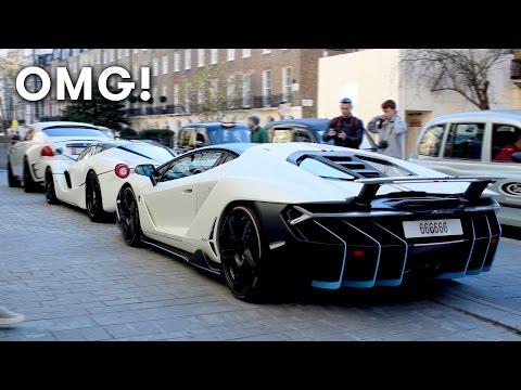 £2 million Lamborghini Centenario on the road in London!